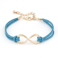 Sunshine jewelry store Fashion gold plated infinity bracelet 8 bracelets & bangles S094 ( $10 free shipping )