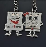 Free Shipping  Fashion Jewelry  Creative gifts key chain cartoon spongebob children love key ring