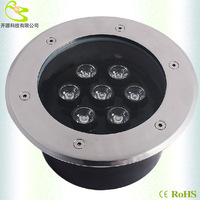 Free shipping 7w led underground light IP66 Waterproof 700lm 12V AC/ DC outdoor deck lighting