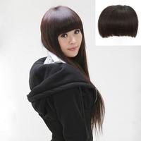 Real hair fringe curtain hair invisible seamless repair hand-woven thick qi bangs