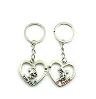 Free Shipping  Fashion Jewelry  Heart-shaped intermediate mickey lovers keychain creative gifts key chain