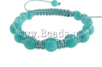 Free shipping!!! Shamballa Bracelets,Womens Jewelry Fashion, Jade, with Wax Cord, 10mm, Length:7 Inch, Sold Per 7 Inch