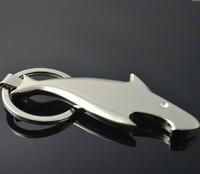 Free Shipping  Fashion Jewelry  Creative shark bottle opener key chain man presents key chain