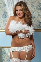 Dear lover plus size lace decoration women's underwear spaghetti strap socks underwear 1085p-1