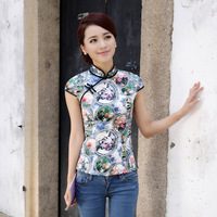 2013 silk cheongsam improved top tang suit mulberry silk cheongsam top cheongsam