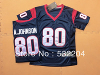 Free Shipping  Wholesale Women's Houston #80 Andre Johnson Game Team Color Jersey American Football Jersey Mixed Order