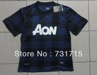 ^_  MUFC away 13 /14 season thai  top quality Player Version embroidery LOGO soccer jerseys free shipping shirts