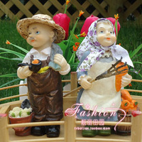 Rustic series resin doll furnishings home decoration
