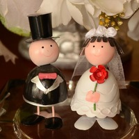Metal doll crafts wedding gift lovers decoration new house fashion home decoration