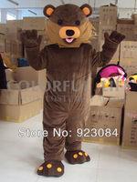Brown pedo bear mascot costume pedobear mascot costume adult size free shipping