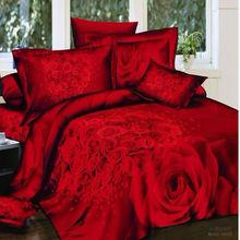 red bedding set promotion