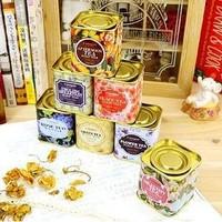 Free Shipping Zakka Gold Tone British Style Candy Box Tin Storage Box Tea Container Wholesale