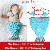 Retail Fashion New Kids Knitted headbands photography clothing set Handmade Crocheting baby suits (hair flower+Bra+pant)