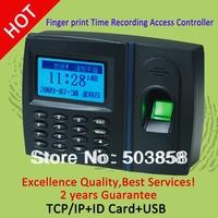 Spanish language monochrome screen  biometric fingerprint time attendance and  access control terminal  OP9006