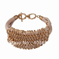 Layer fashion chain statement bracelet