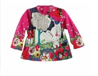 Children's clothing 2013 autumn cat rabbit long-sleeve t