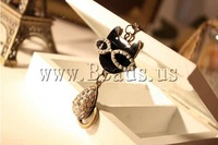 Free shipping!!!Zinc Alloy Animal Pendants,2013 Brand,  antique bronze color plated, enamel & with rhinestone, nickel