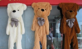 Freeshipping  1.4m men's bear plush teddy bear shell no pp cotton teddy coat 140cm large size bear clothing