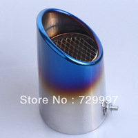20pcs/lot Wholesale New Burn Blue Bluing Enamel Chrome Exhaust Muffler Stainless Steel Tip Pipe for Ford Escape Kuga 2013