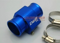 34mm Blue Water Temperature Gauge Join Pipe Radiator Hose Sensor Adapter