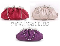 Free shipping!!!Fashion Bag,fashion brand, Silk, with rhinestone, mixed colors, 240x60x120mm, 3PCs/Lot, Sold By Lot