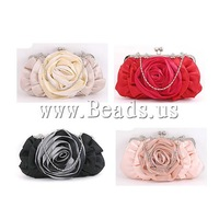 Free shipping!!!Fashion Bag,fantasy women jewelry, Silk, with rhinestone, mixed colors, 295x15x160mm, 3PCs/Lot, Sold By Lot