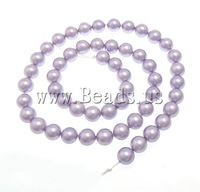 Free shipping!!!South Sea Shell Beads,korean, Round, pink, 8mm, Hole:Approx 0.5mm, Length:16 Inch, 53PC/Strand, Sold Per 16 Inch