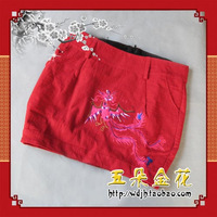 Short skirt fluid embroidery full slim hip short skirt miniskirt