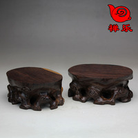 Free Shipping Yixing teapot pot rack ebony wood oval elevated ceramic kung fu tea set coffee sets