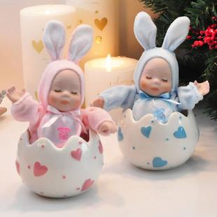 Aluna presente de aniversário presentes caixa de música boneca cabeça bobble cerâmica(China (Mainland))