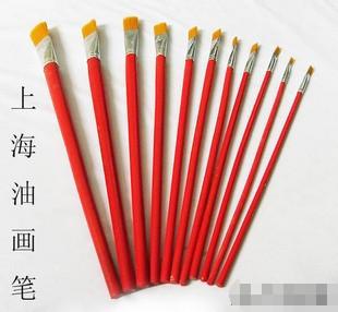 Frete grátis caneta pintura a óleo haste vermelha caneta pintura a óleo caneta cristalizar pintura de lã de nylon escova 1 - 12(China (Mainland))