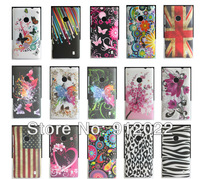 Butterfly Flower Hard Skin Cover Case For Nokia Lumia 520 Free Postage