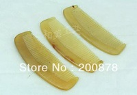 L071 Best offer! Wholesale Tibet Natural Sheep Horn Combs,Heathy antistatic comb,lovely pocket cosmetic comb,11cm,10pcs lot