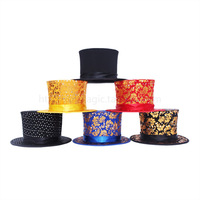 Magic props folding magic hat magic fedoras spring cap