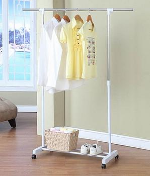 Single pole pursing retractable landing hangers racks white fashion hangers