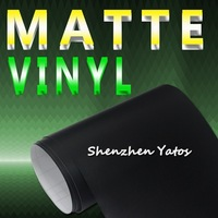 Black Matte 3M Car Body Adhesive Vinyl Film Air Free 1.52*30M