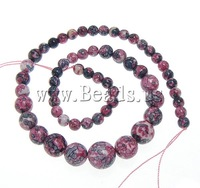 Free shipping!!!Rain Flower Stone Beads,2013, Round, natural, 6-14mm, Length:16.5 Inch, 5Strands/Lot, Sold By Lot
