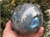 700---800gNatural labradorite Quartz Crystal Sphere