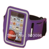 Universal Neoprene Sport Running Armband Case Workout Armband Holder Case for Apple iphone 4 4s,free shipping