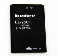 For koobee   n60 bl-25ct mobile phone battery bl-25ct electroplax battery 1400mah