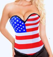 ON SALE! Fashion royal 2013 shaper flag pattern personality fashion shaper shapewear l4189