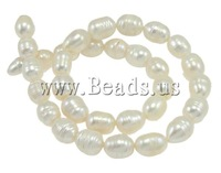 Free shipping!!!Rice Cultured Freshwater Pearl Beads,Vintage Jewelry, natural, white, A, 10-11mm, Hole:Approx 0.8mm
