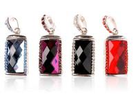 S43 Free Shipping 4GB 8GB 16GB 32GB 64GB Full Capacity Crystal Jewelry Glass Heart USB 2.0 Memory Flash Pen Drive Car/Thumb/Pen