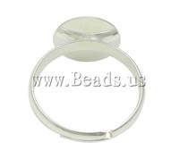 Free shipping!!!Brass Pad Ring Base,Newest Design, silver color plated, nickel, lead & cadmium free, 12x12mm