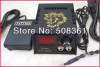 Hot Sale!!! LED Digital Tattoo Power Supply System With Plug Foot Petal Clip Cord For Kit Machine Needles Supply