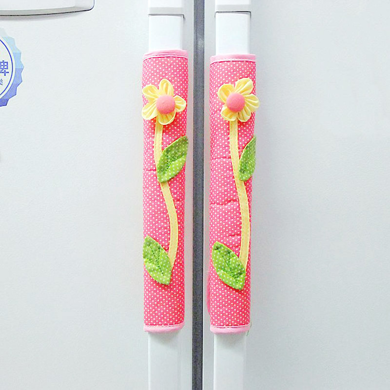 Rustic fabric wardrobe door handle sets thickening refrigerator to gloves a pair of k0001(China (Mainland))