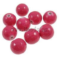 Free shipping!!!Painted Acrylic Beads,2013 designer brand women, Round, painting, red, 12mm, Hole:Approx 2.5mm, 500PCs/Bag