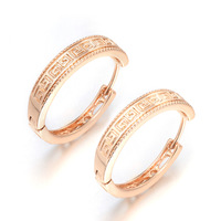 18K Earrings - MJE51Gold Earrings  lovely earring  18K Gold Crystal Earrings for women wholesale Sale items, Free shipping
