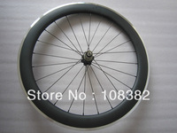Rear only 60mm clincher carbon bicycle wheels with alloy brake surface