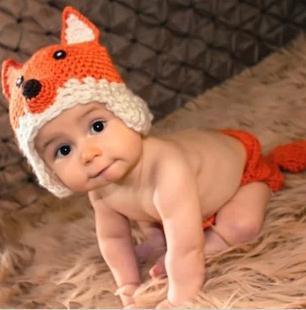 Free shipping! New  Handmade Crochet Baby Fox hat and shorts Newborn photography props cap Children Costume Set Snapback caps
